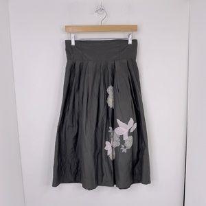 GAP Silk Midi Floral Skirt